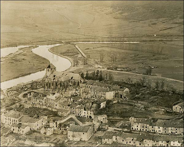 Dun Sur Meuse, France After Bombing WWI Photo Print for Sale