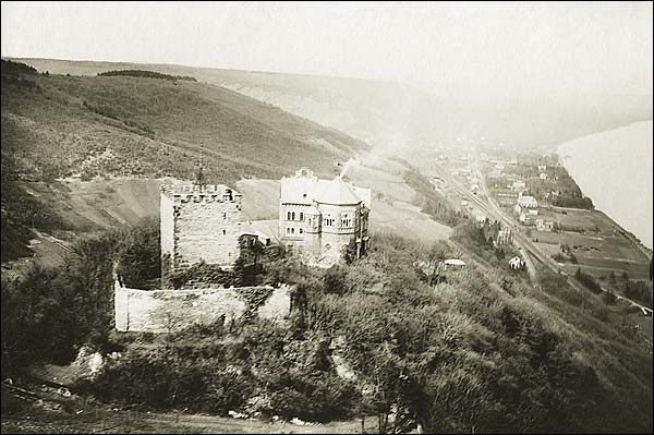 Rolandseck Castle on the Rhine in Germany WWI Photo Print for Sale