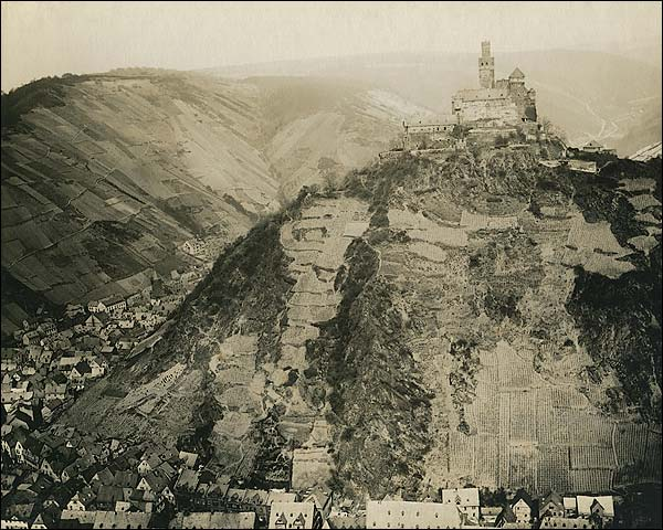 Marksburg Castle in Germany WWI Era Photo Print for Sale