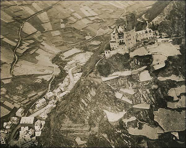 WWI Era Marksburg Castle in Germany Photo Print for Sale