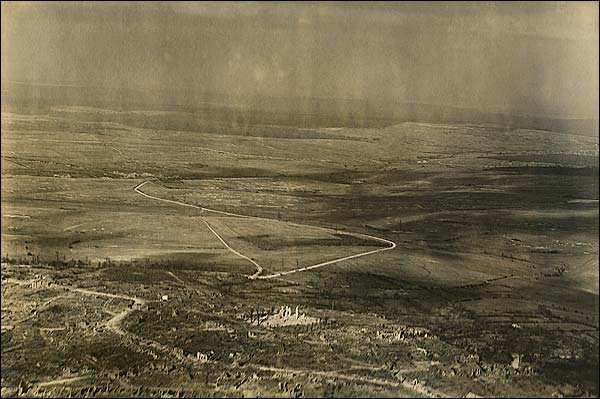 WWI Montfaucon-d'Argonne Aerial View France Photo Print for Sale