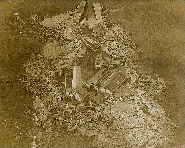 WWI Aerial View Unidentified Lighthouse  Photo Print for Sale