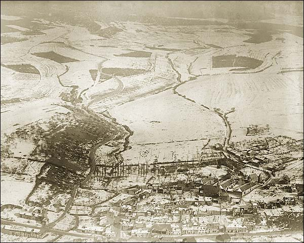 Fléville, France Aerial View WWI Photo Print for Sale