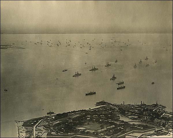 U.S. Navy Atlantic Fleet Leaving Hampton Roads Virginia Photo Print for Sale