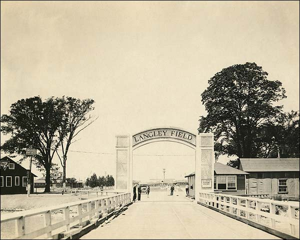 WWI Era Entrance to Langley Field Photo Print for Sale