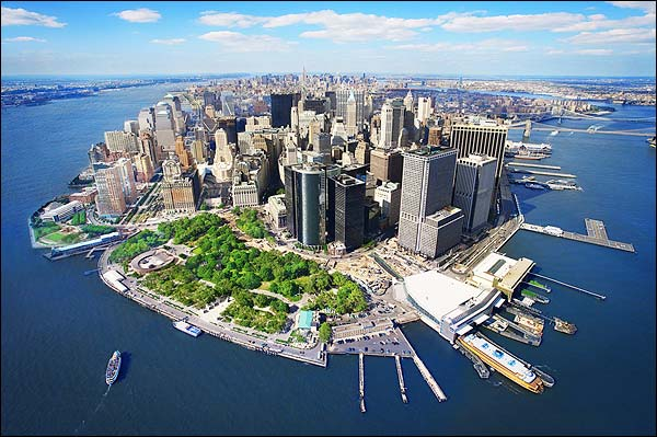 Aerial Lower Manhattan New York City Photo Print for Sale