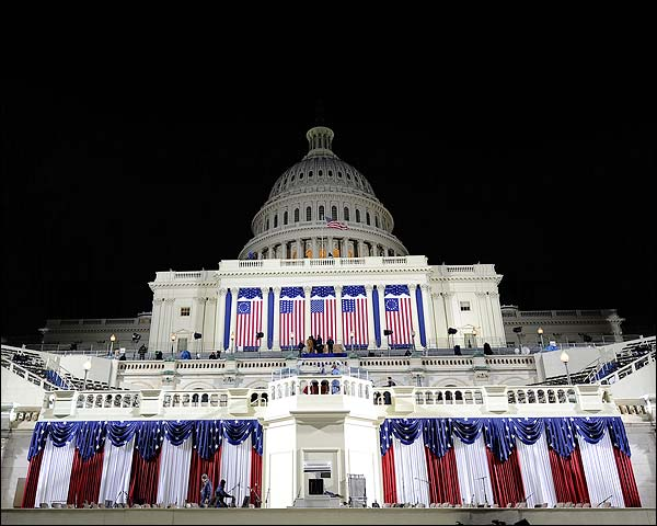 U.S. Capitol Decorated for Barack Obama Inauguration 2009 Photo Print for Sale