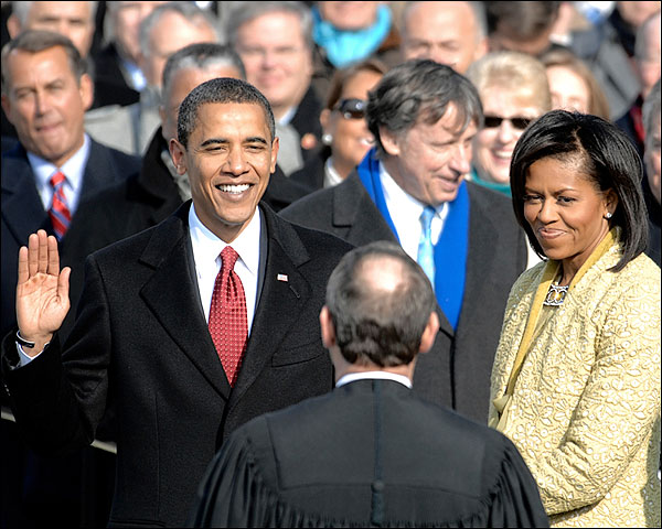 President Barack Obama Oath w/ Michelle Photo Print for Sale