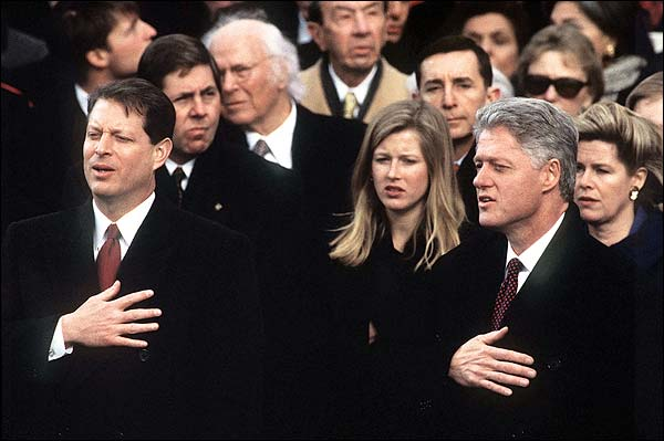 Al Gore and Bill Clinton 1997 Inauguration Photo Print for Sale