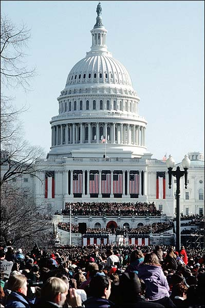 Capitol Building at Bill Clinton Inauguration 1997 Photo Print for Sale