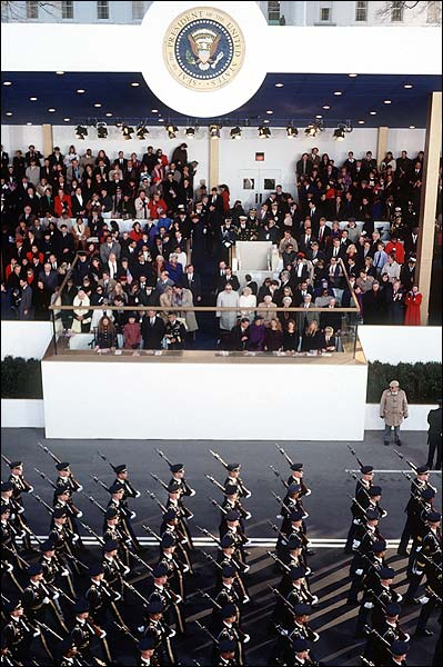Military March at Clinton Inaugural Parade 1997 Photo Print for Sale