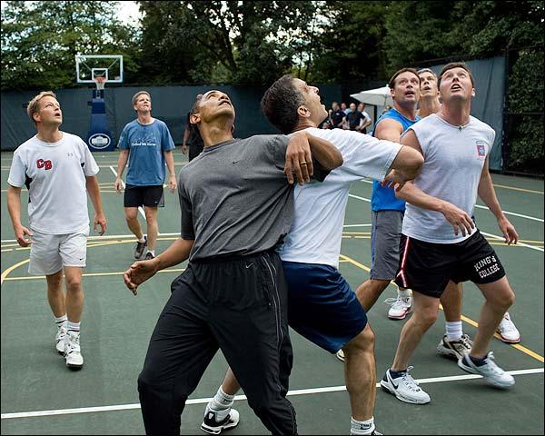 President Barack Obama White House Basketball Game Photo Print for Sale