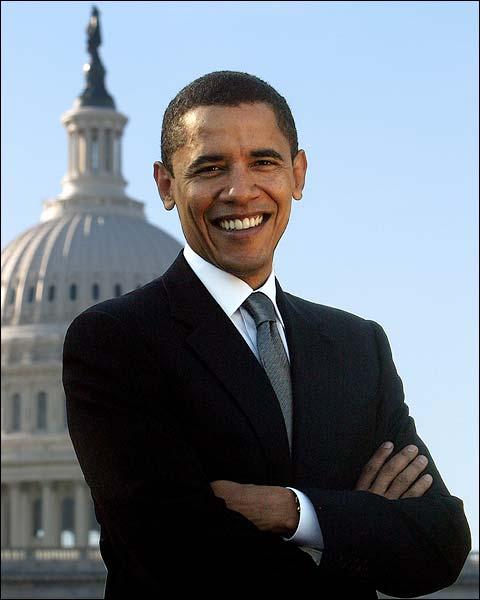 Official U.S. Senate Portrait of Barack Obama Photo Print for Sale