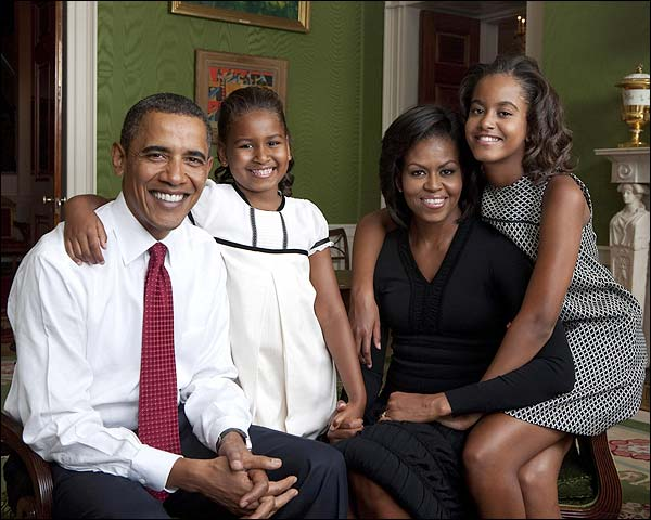 Obama Family Portrait at White House 2009 Photo Print for Sale