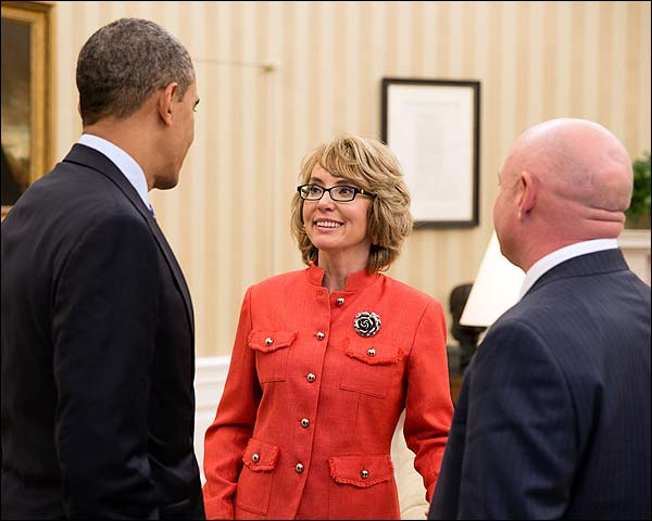 President Barack Obama and Gabrielle