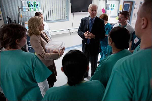Vice President Biden at Landstuhl Regional Medical Center Photo Print for Sale