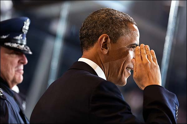 President Obama Salutes Military at Inaugural Parade 2013 Photo Print for Sale