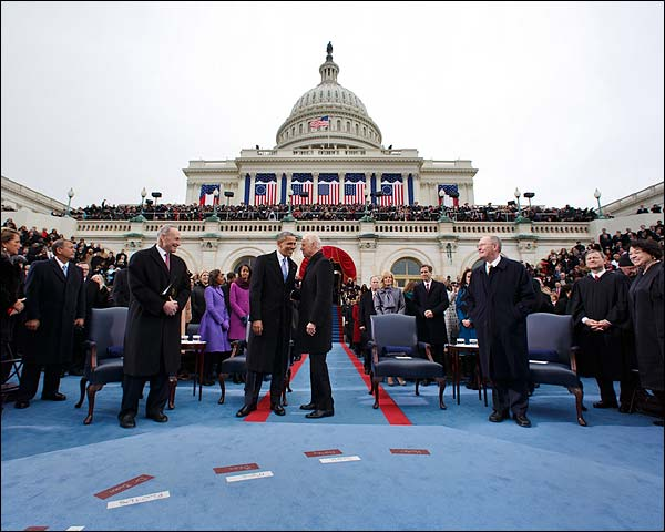 President Obama and VP Joe Biden at Inauguration 2013 Photo Print for Sale