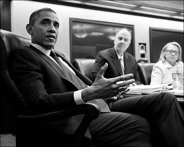 Situation Room Meeting President Barack Obama Photo Print for Sale