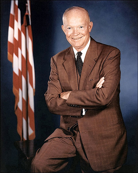 President Dwight D Eisenhower 3/4 Portrait Photo Print for Sale