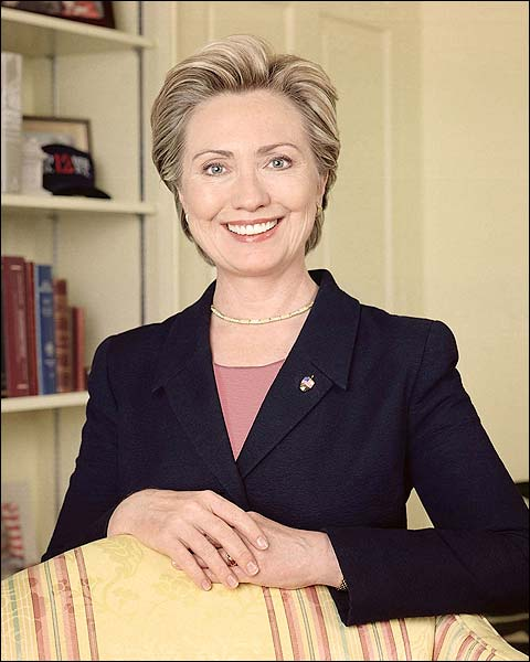 Hillary Rodham Clinton Color Portrait Photo Print for Sale