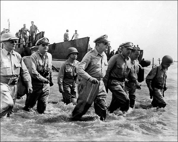 General Douglas MacArthur's Return to Philippines 1944 Photo Print for Sale