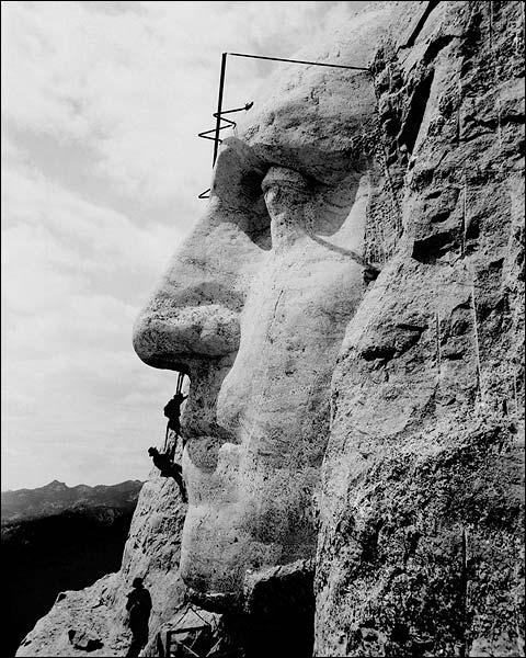 George Washington Construction Mount Rushmore 1932 Photo Print for Sale