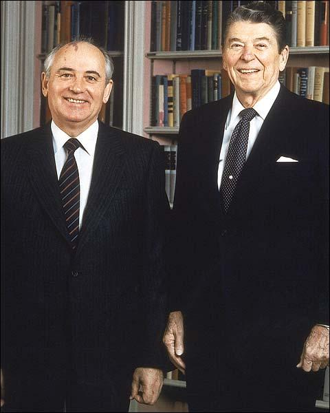 U.S. President Reagan and Soviet Leader Gorbachev Photo Print for Sale