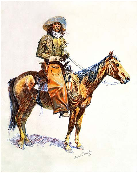 Reproduction Lithograph of 'Arizona Cowboy'  Photo Print for Sale