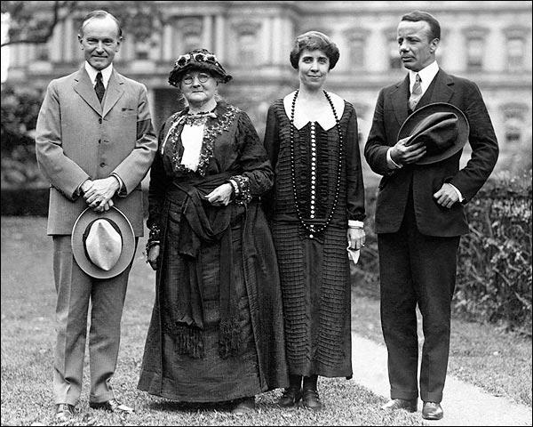 President & Mrs. Coolidge, Mother Jones, & Roosevelt Photo Print for Sale