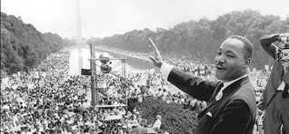 Martin Luther King, Jr. with Crowd 'I Have a Dream' Speech